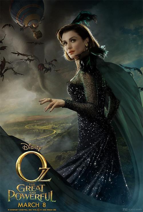 Un nuevo cartel de Oz: un mundo de fantasía de nuevo con Evanora