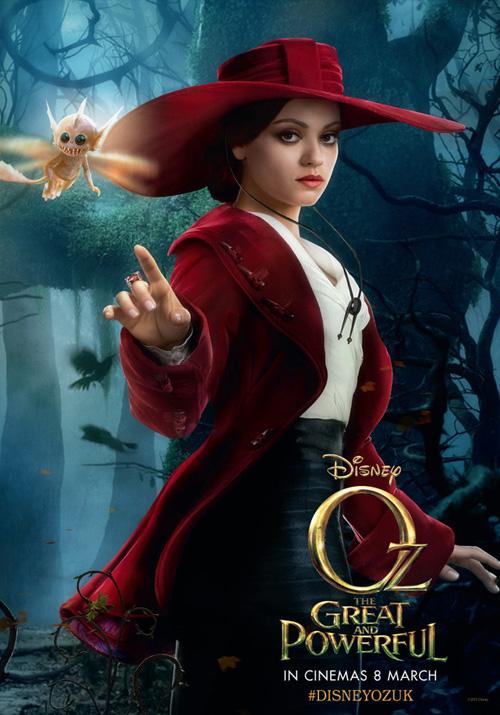 Otro cartel más de Oz: un mundo de fantasía, es el turno de Theodora