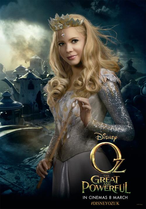 Otro cartel más de Oz: un mundo de fantasía, es el turno de Glinda