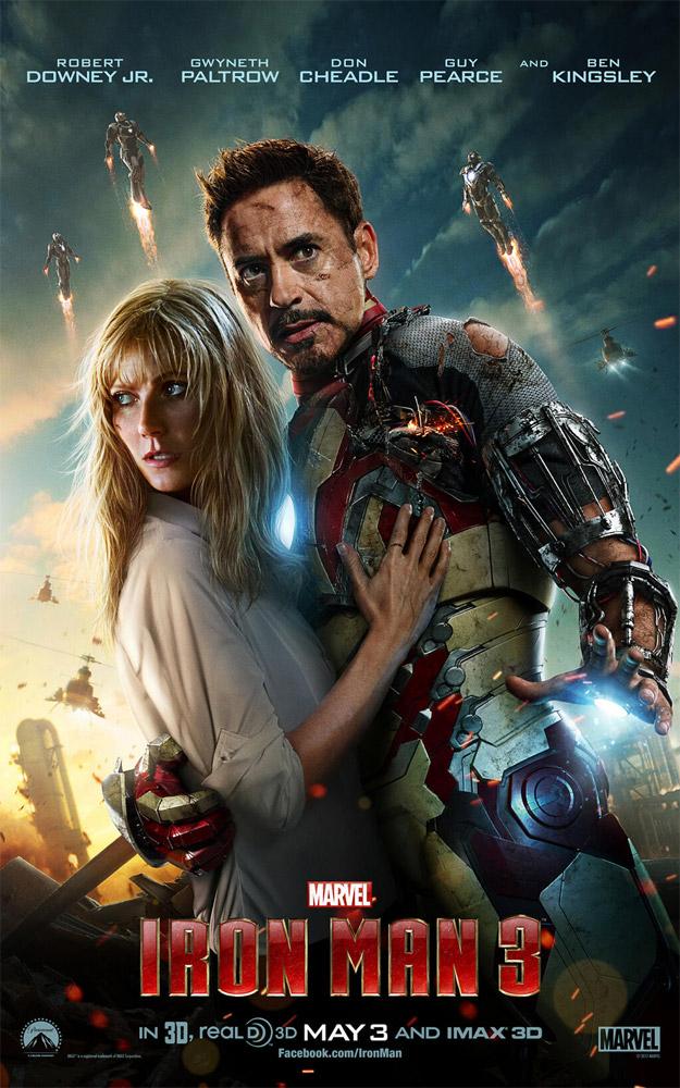 Un nuevo cartel internacional de Iron Man 3 no acerca a casi imposibles giros de cuello... menuda tortícolis