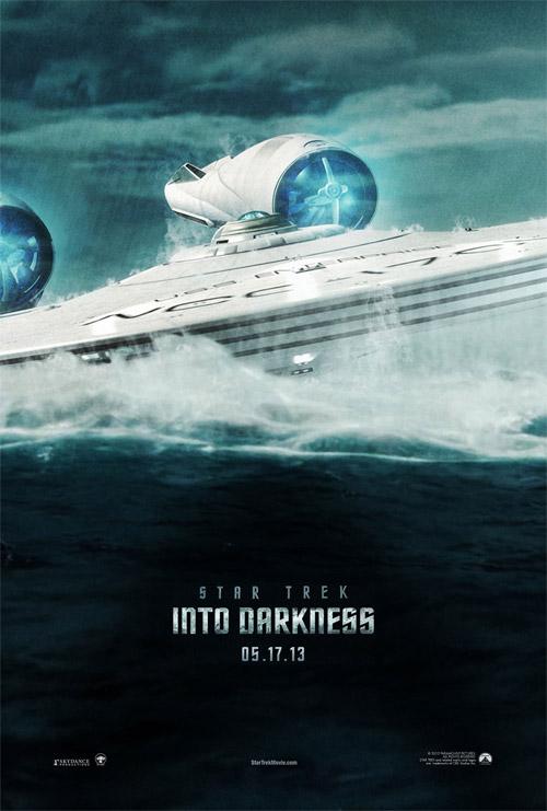 Un cartel fan made de Star Trek: en la oscuridad realizado por R. Wallace