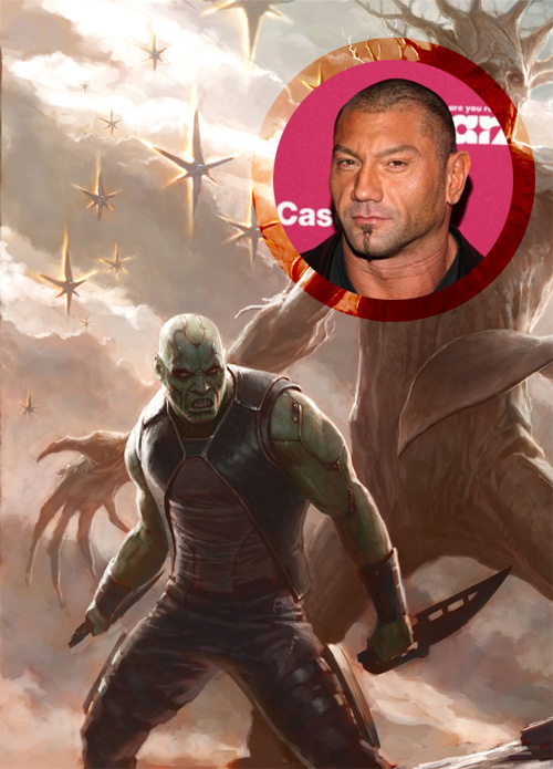 Dave Bautista será Drax the Destroyer