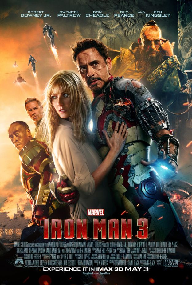 El nuevo cartel para salas IMAX de Iron Man 3