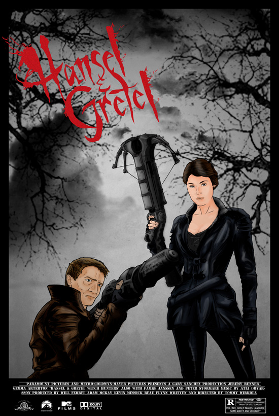 Hansel & Gretel: Witch Hunters por Eric Blanch
