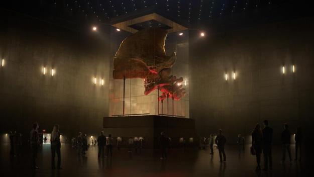 Atención al tamaño de este cráneo Kaiju de Pacific Rim