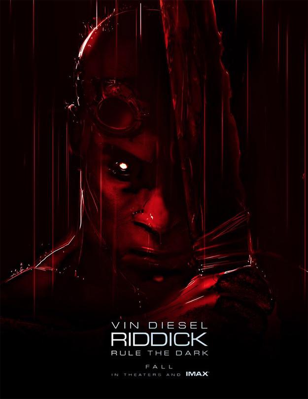 El cartel de Riddick para la Comic-Con 2013