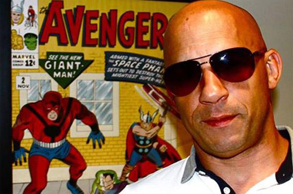 Aquí Vin Diesel y al fondo el posible guiño / referencia a lo que le