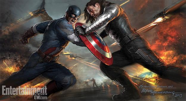 Fabuloso concept art de Capitán América: el Soldado de Invierno