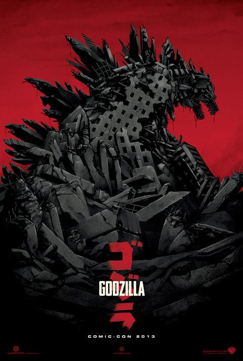 Magnífico cartel de Godzilla!