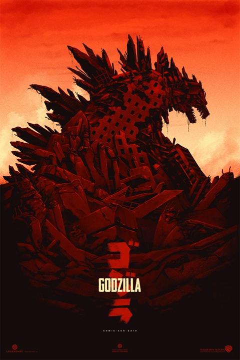 Y otro modelo del nuevo cartel de Godzilla