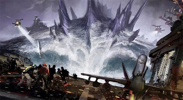 El nuevo concept art de Godzilla nos aproxima al tamaño real de la criatura de Toho!