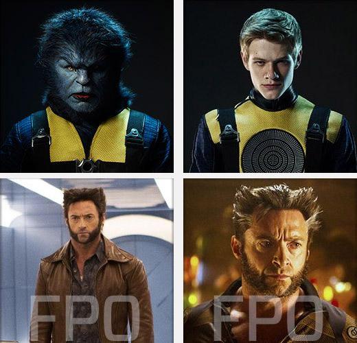 Cuatro mutantes del presente / futuro: Bestia, Caos, Lobezno y Lobezno