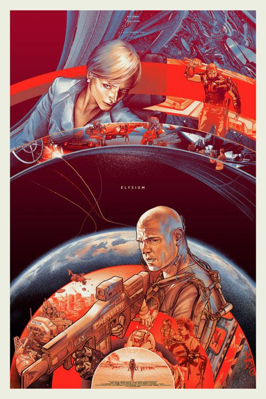 El cartel Mondo de Elysium obra de Martin Ansin