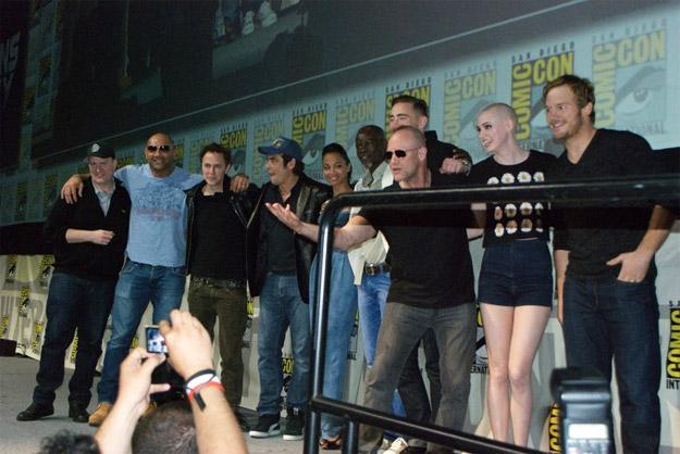 Kevin Feige, Dave Bautista, James Gunn, Benicio del Toro, Zoe Saldana, Djimon Hounsou, Lee Pace, Michael Rooker, Karen Gillian y Chris Patt