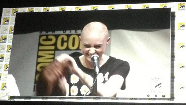 Una de las grandes sorpresas de la tarde / noche... Karen Gilliam pelada para ser Nebula en Guardians of the Galaxy!