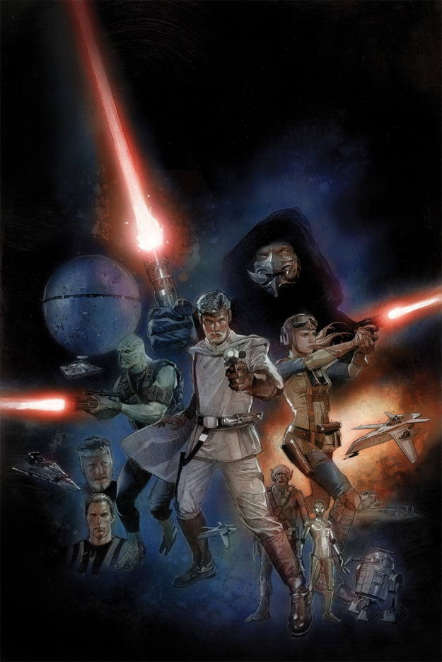 Una de las portadas del nuevo cómic... todo sigue, casi, igual