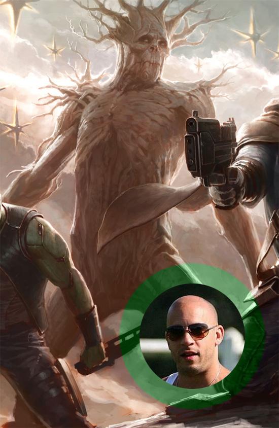 Vin Diesel parece haber sido fichado para ser Groot en Guardians of the Galaxy