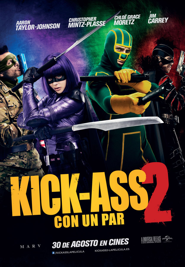 "Cartel de ""Kick-Ass 2: Con Un Par"""