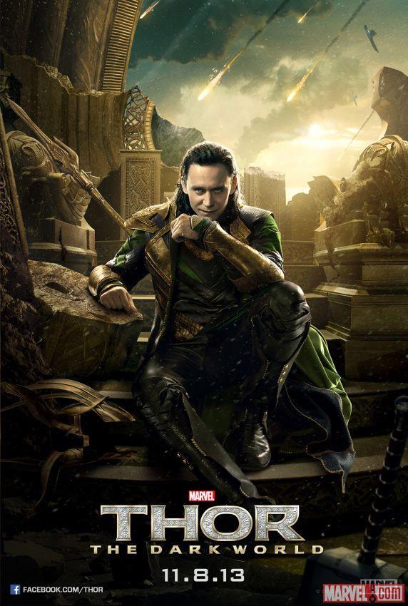 Cartel de Loki para Thor: el mundo oscuro