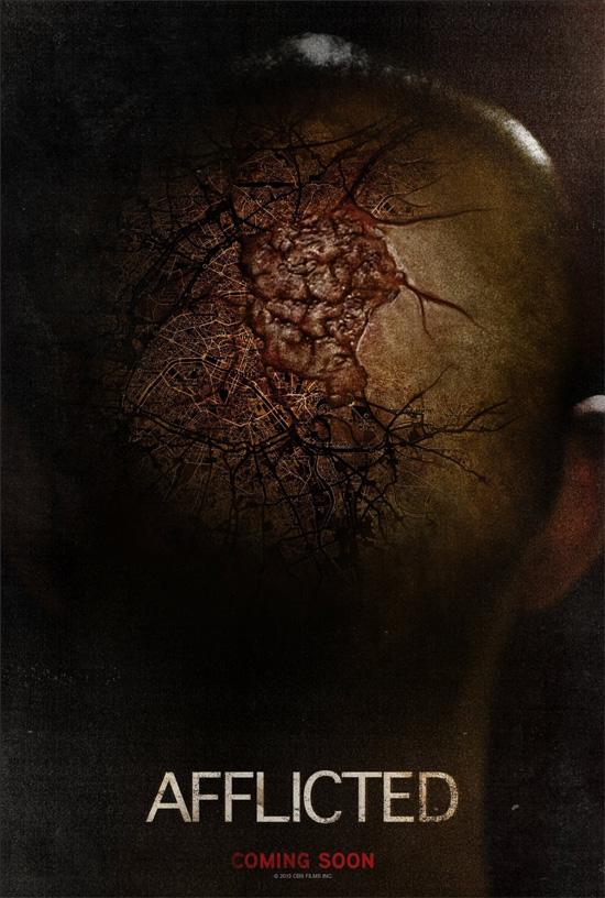 Primer cartel del film de terror canadiense Afflicted