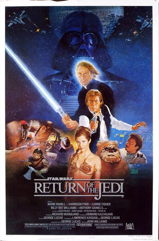 El cartel clásico de El Retorno del Jedi