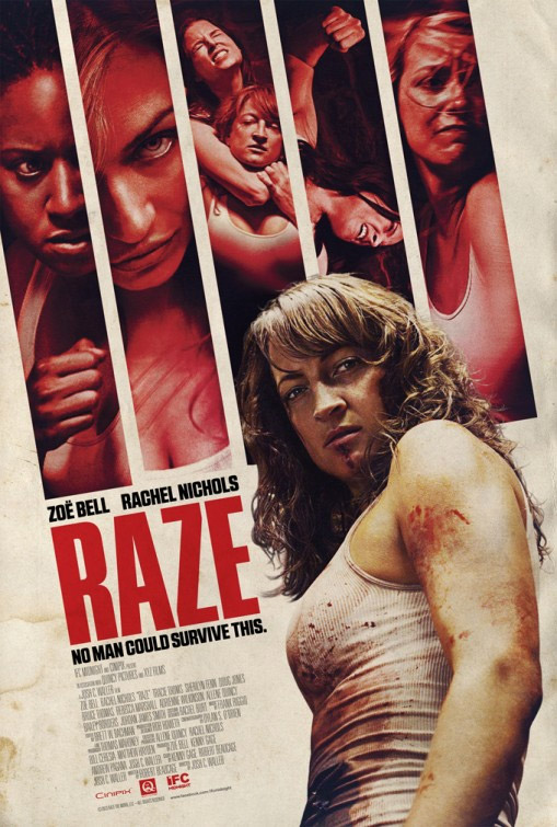Genial cartel de Raze con Zöe Bell y Rachel Nichols