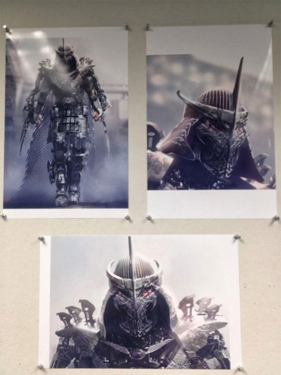 Diseños de la armadura de The Shredder