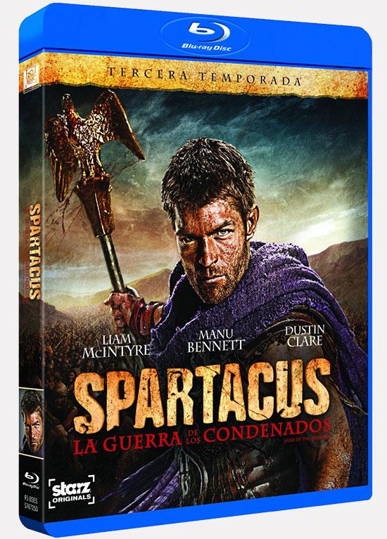 """Carátula de la edición en Blu-Ray de """"Spartacus: La guerra de los condenados"""""""