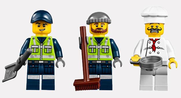 El basurero Grant, el basurero Dan y el chef Gordon Zola