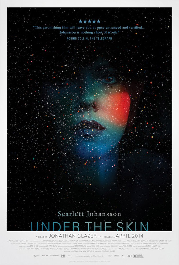 Cartel de Under The Skin con Scarlett Johansson