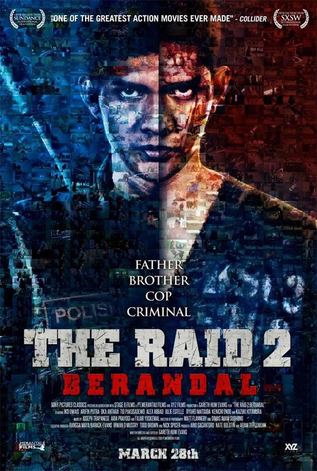 El cartel final de The Raid 2: Berandal es un mosaico de tortazos