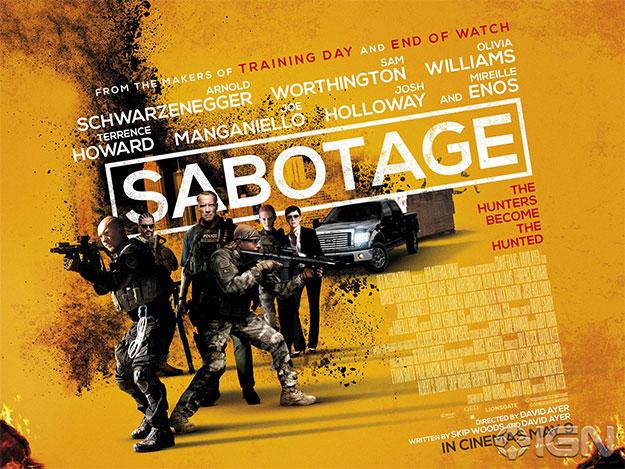 Quad-poster de Sabotage