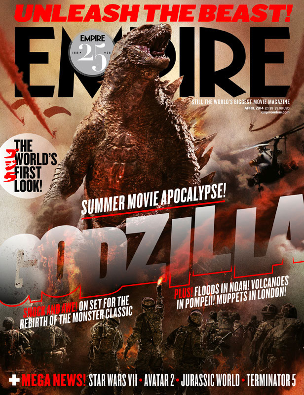 La portada de Empire dedicada a Godzilla