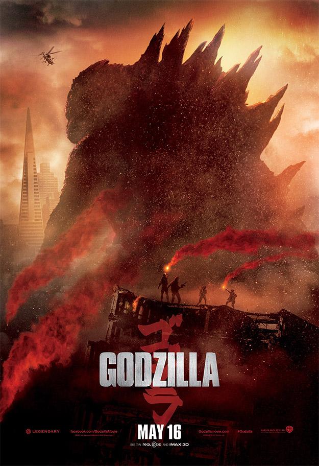 Y otro cartel más de Godzilla... menuda invasión