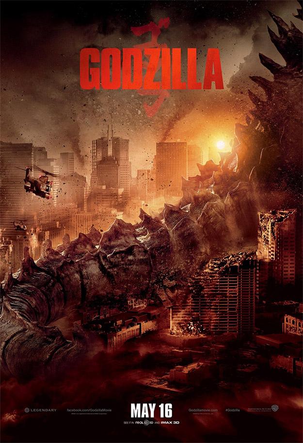 Un nuevo cartel de Godzilla nos muestra la inmensa cola de la criatura