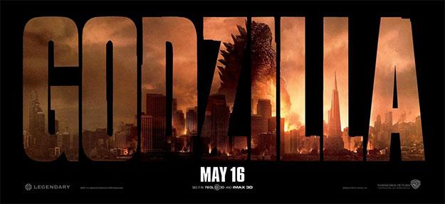 Y otro cartel más, en modo banner, de Godzilla