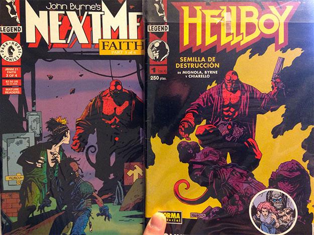 """Aquí mi ejemplar de Next Men con el debut de Hellboy y el nº1 de """"Semilla de Destrucción"""" edición Norma"""