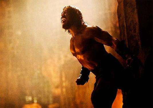 """Dwayne """"The Rock"""" Johnson como el nuevo Hercules gritando más"""