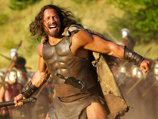 """Dwayne """"The Rock"""" Johnson como el nuevo Hercules gritando"""