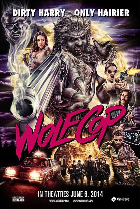 El cartel de WolfCop... eso se va a estrenar en cines (en Canadá)