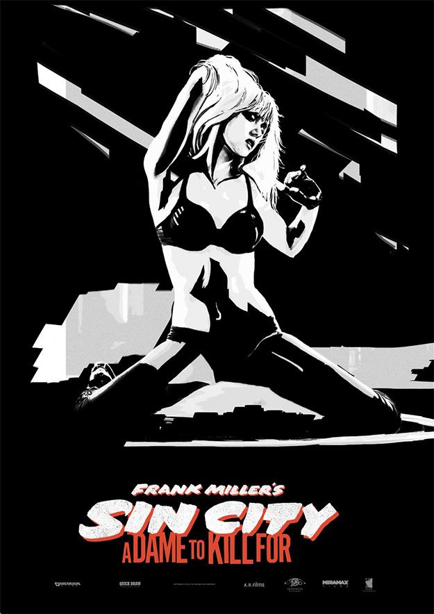 Y otro cartel más de Sin City: A Dame to Kill For... vamos a tener 1000