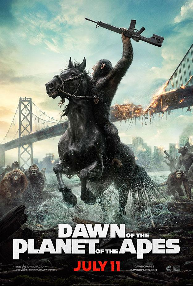 Este cartel de El amanecer del planeta de los simios invita a tomar las armas