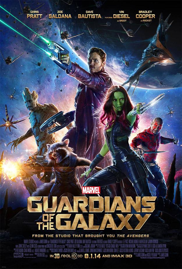 El nuevo cartel de Guardianes de la Galaxia... ración triple de color y molancia