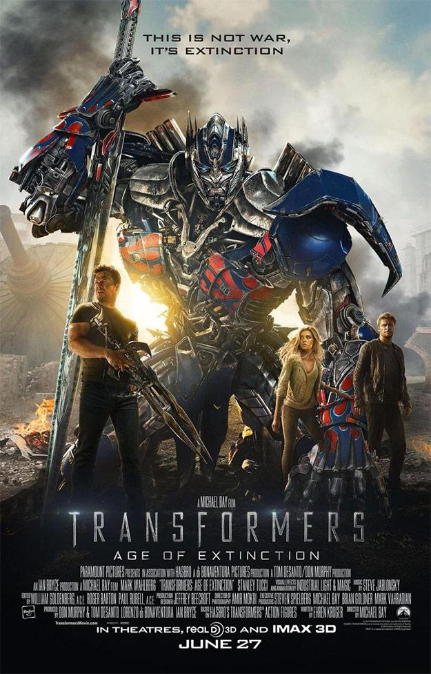 Otro mega cartel de Transformers: la era de la extinción