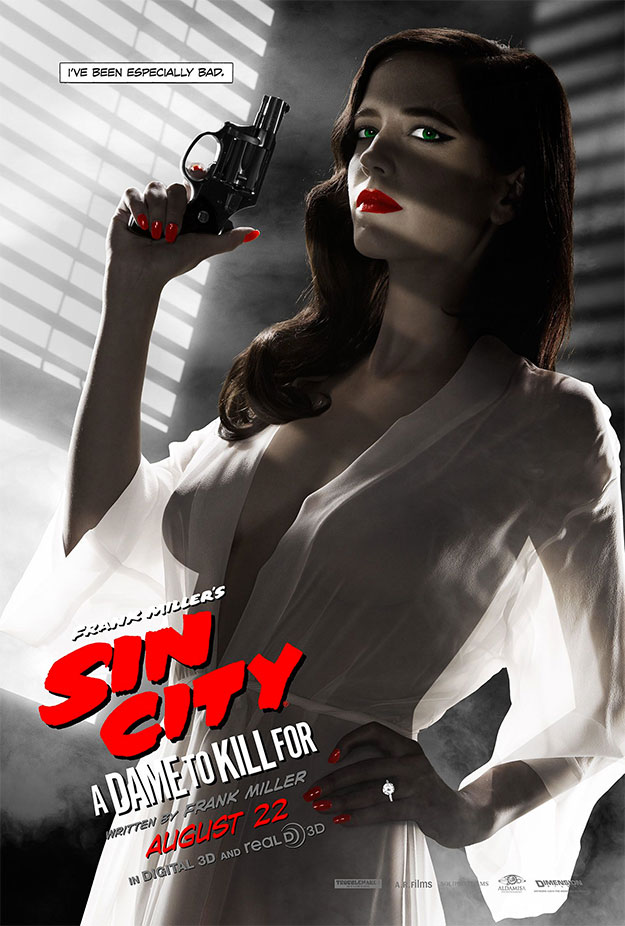El cartel de Sin City: A Dame to Kill For que prohibió la MPAA