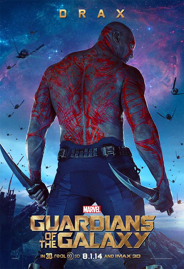 En Guardianes de la Galaxia estará Drax el destructor... obvio