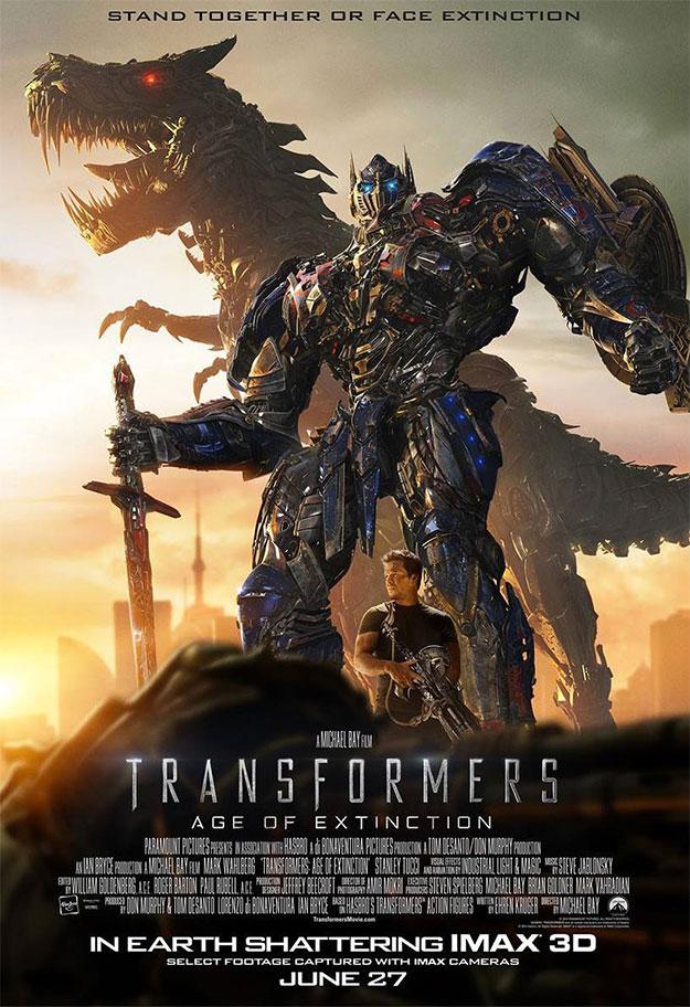 Un nuevo cartel para el mercado IMAX de Transformers: la era de la extinción