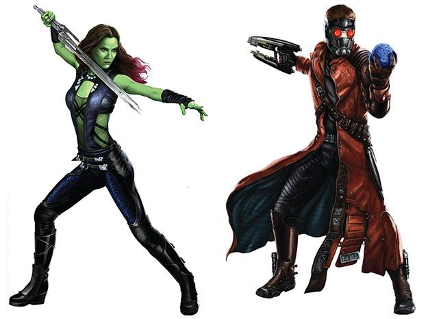 Nuevamente Gamora y Star-Lord haciendo pose a lo Dragon Ball