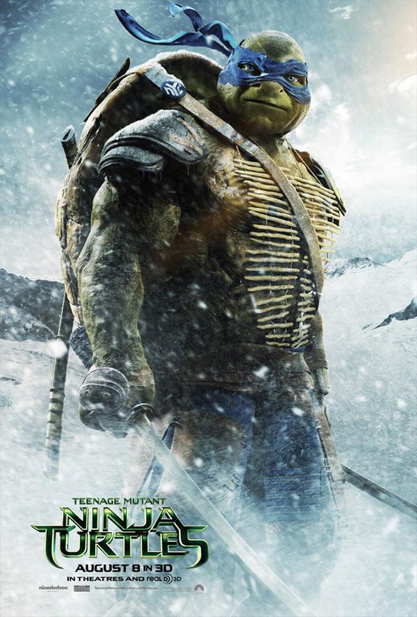 Leonardo se ha tomado unos cuantos batidos de vitaminas para ser una de las Teenage Mutant Ninja Turtles