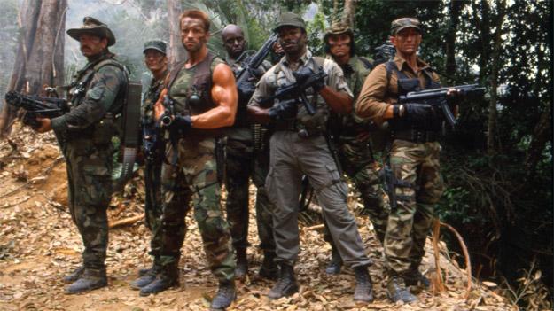 El equipo original de Depredador al completo... no sabían la que se les venía encima